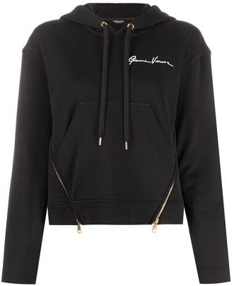 Versace Medusa-print cropped hoodie