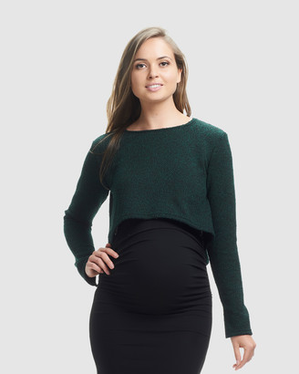 Soon Daria Crop Knit Top