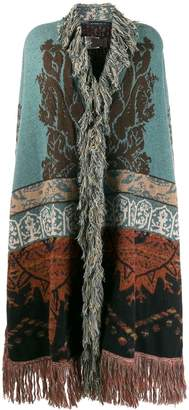 Etro draped knitted cardigan