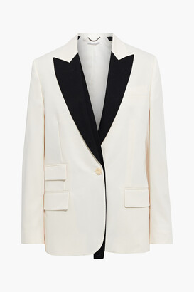 Stella McCartney Bell Two-tone Wool-twill Blazer
