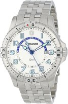 Wenger Men's 77079 Squadron GMT White Dial Steel Bracelet Watch