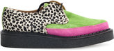 Comme des Garcons multi patterned creepers