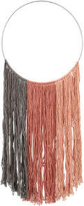Bloomingville Cotton and Iron Macrame Wall Hanging - Multicolor