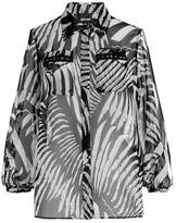 Just Cavalli Printed Blouse with Cut-Out Shoulders