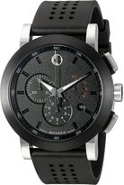Movado Men's 0606545 Museum Sport Chrono with Perforated Rubber Strap Watch