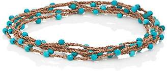 Feathered Soul Men's #Touch Wrap Bracelet - Turquoise