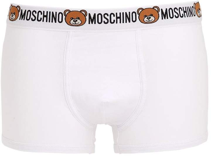 Moschino Pack Of 2 Logo Cotton Boxer Briefs