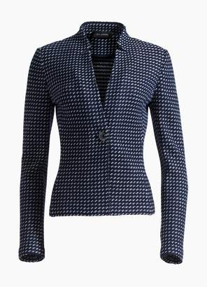 St. John Dotted Inlay Tweed Knit Jacket