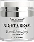 BEST Anti Aging Night Cream Moisturizer With Retinol – Night Time Moisturizing Cream Revitalizes & Rejuvenates Skin while Helps To Get Rid of Wrinkles and Fine Lines – 1.7 fl oz