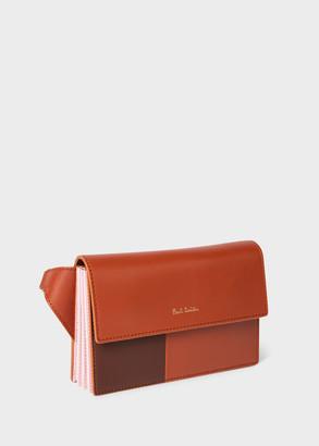 Paul Smith Women's Brown Colour-Block Leather 'Concertina' Belt Bag
