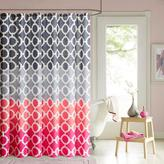 Dani Printed Shower Curtain and Hook Set - Coral