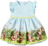 MonnaLisa Bunny Printed Cotton Poplin Dress