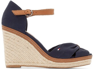 Tommy Hilfiger Elena Espadrille Wedge Heel Sandals with Ankle Cuff
