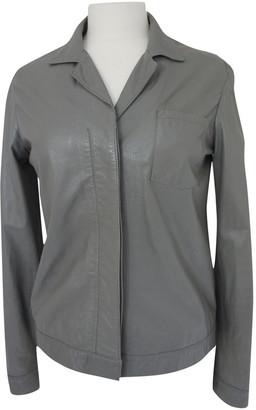 Helmut Lang Grey Leather Jackets