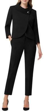 Tahari Arthur S. Levine 2-Piece Wrap Jacket & Ankle Pant Suit
