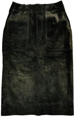 Bally Khaki Suede Skirt for Women