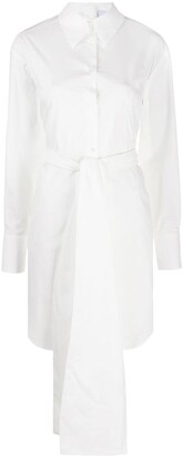 MSGM Bow Detail Shirt Dress