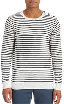 J. Lindeberg Button Shoulder Stripe Sweater