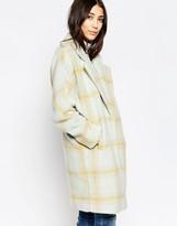 Yumi Oversized Check Coat