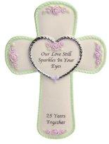 Precious Moments 25th Anniversary Cross Plaque