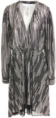 IRO Gathered Metallic Printed Georgette Dress