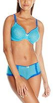 Lunaire Women's Santorini Seamless Lace Underwire Bra and Hipster Set