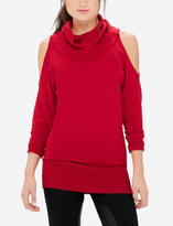 The Limited Cowl Neck Cold Shoulder Sweater