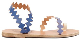 Ancient Greek Sandals X Le Sirenuse Positano Eleftheria Leather Sandals - Blue Multi
