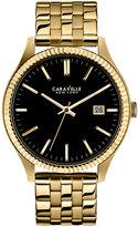 Bulova Caravelle New York by Men's Gold-Tone Stainless Steel Bracelet Watch 41mm 44B105