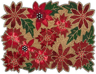 Mackenzie Childs MacKenzie-Childs - Poinsettia Beaded Placemat