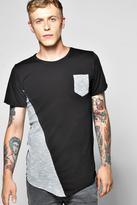 Boohoo Space Spliced Pocket T Shirt