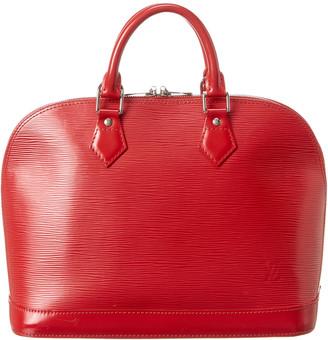 Louis Vuitton Red Epi Leather Alma