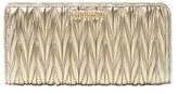 Miu Miu Leather Long Wallet