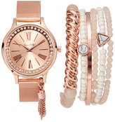 jessica carlyle ST1921RG427 Rose Gold-Tone Watch & Bracelet Set