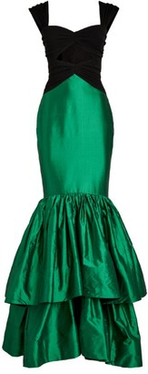 Rasario Cut-Out Tiered Gown