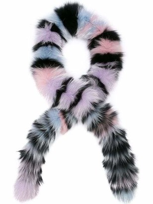 Exclusive Chunky Monkey Striped Stole