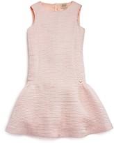 Armani Junior Girls' Crinkled Satin Drop Waist Dress - Sizes 4-16