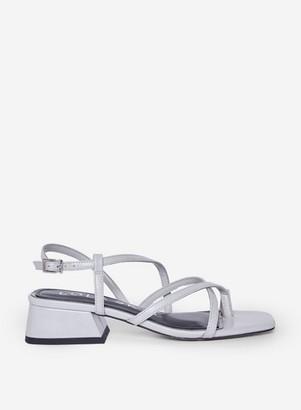 Dorothy Perkins Womens Grey Toe Post Block Heel Sandals, Grey
