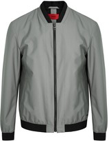 Hugo Besten Dark Grey Shell Bomber Jacket
