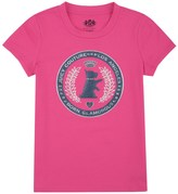 Juicy Couture Girls Logo Scottie Crest Short Sleeve Tee