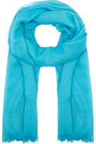 Johnstons of Elgin Blue Lightweight Cashmere Scarf