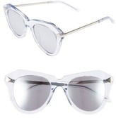 Karen Walker Women's One Star 50Mm Retro Sunglasses - Clear With Silver