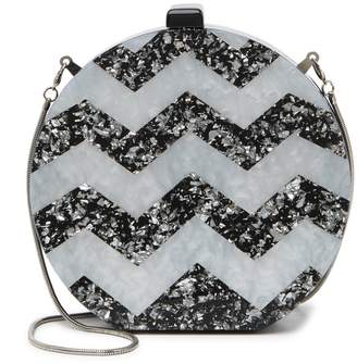 Urban Expressions Chevron Sparkle Clutch