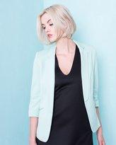 Missy Empire Rayna Mint Open Front Blazer