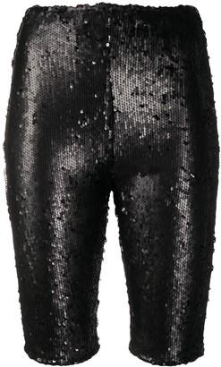 Alchemy Sequinned Biker Shorts