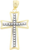 JCPenney Womens 10K Two-Tone Gold Cross Pendant