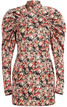 Rotate by Birger Christensen Kim Floral Jacquard Mini Sheath Dress
