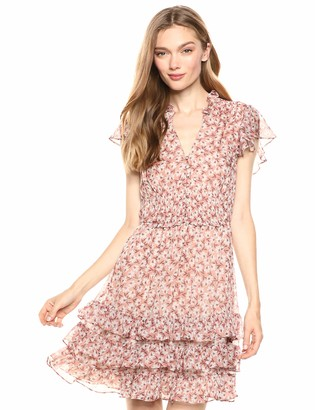 Rebecca Taylor Women's Sleeveless Floral Ruffle Mini Dress
