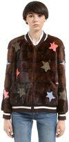 Simonetta Ravizza Stars Mink Fur Bomber Jacket