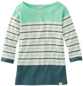 L.L. Bean L.L.Bean Women's French Sailor's Shirt, Three-Quarter-Sleeve Boatneck Multi-Stripe